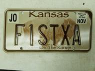 Kansas Johnson County License Plate F1STXA