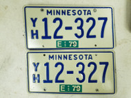 1979 Minnesota License Plate 12-367 Pair