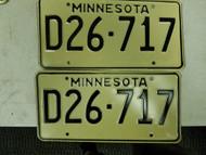 Minnesota Dealer License Plate D26-717 Pair
