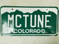 Colorado License Plate MCTUNE