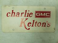 Charlie Kelton's GMC Booster License Plate (3)