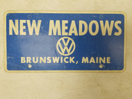 Maine New Meadows Volkswagon Booster License Plate