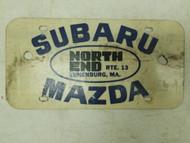 Subaru Mazda North End Massachusetts Booster License Plate (1)