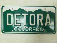 Colorado License Plate DETORA