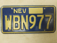 Nevada License Plate WBN977