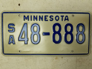Minnesota License Plate 48-888 Triple Eight