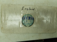 England 1977 Private License Plate Sticker