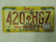2008 New Mexico Quay County License Plate 420-HG7 Weed Pot Smoke