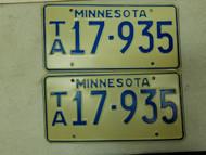 Minnesota License Plate 17-935 Pair