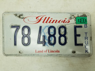 2011 Illinois Land of Lincoln Truck License Plate 78 488 E