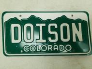 Colorado License Plate DOISON