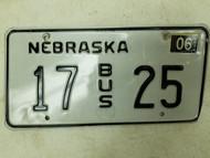 2004 Nebraska Bus License Plate 17 25