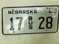2004 Nebraska Bus License Plate 17 28