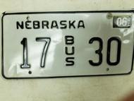 2004 Nebraska Bus License Plate 17 30