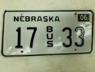 2004 Nebraska Bus License Plate 17 33