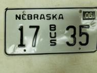 2004 Nebraska Bus License Plate 17 35