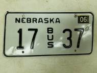 2004 Nebraska Bus License Plate 17 37