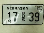 2004 Nebraska Bus License Plate 17 39