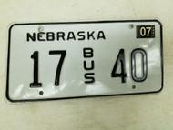 2004 Nebraska Bus License Plate 17 40