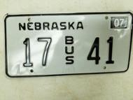 2004 Nebraska Bus License Plate 17 41