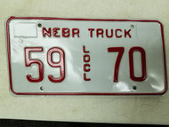 Nebraska Local Truck License Plate 59 70