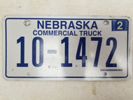 2006 Nebraska Commercial Truck License Plate 10-1472