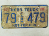 1994 Nebraska Not For Hire Farm Truck License Plate 79 479