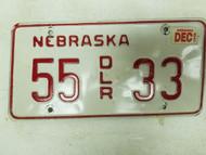 2000 Nebraska Dealer License Plate 35 33