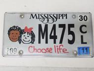 2011 Mississippi Choose Life Kids Plate M475