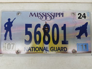 2011 Mississippi National Guard Soldier Plane Lighthouse License Plate 56801