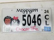 2011 Mississippi Choose Life Kids License Plate 5046