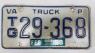1988 Virginia Truck License Plate TG-29-368