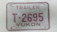 Expired Yukon Trailer License Plate T-2695