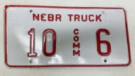 Expired Nebraska Commercial Truck License Plate 10-6
