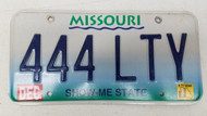 2000 MISSOURI Show-Me State License Plate 444-LTY