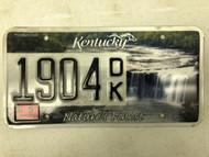 2013 KENTUCKY Unbridled Spirit Nature's Finest License Plate 1904-DK waterfall river