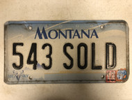2000 MONTANA Big Sky License Plate 543-SOLD Sold Cow Skull
