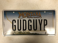 Expired MONTANA Big Sky Country License Plate GUDGUYP Good Guy Mountain  Range