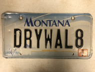 2000 (2012 Tag) MONTANA Big Sky License Plate DRYWAL8 Drywall Cow Skull