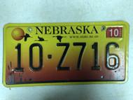 2005 Tag NEBRASKA Platte County www . state . ne . us Website License Plate 10-Z716