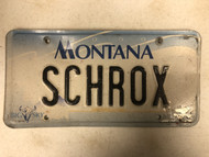2000 MONTANA Big Sky License Plate Schrox Cow Skull