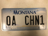 2000 MONTANA Big Sky License Plate OA-CHN1 Cow Skull