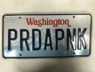 Expired WASHINGTON License Plate PRDAPNK Mountain