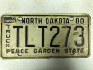 1980 NORTH DAKOTA Peace Garden State Truck License Plate TLT273