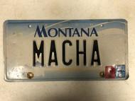 2000 (2004 Tag) MONTANA Big Sky License Plate MACHA Cow Skull