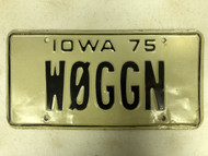 1975 IOWA License Plate WØGGN