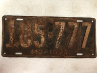 DMV Clear 1934 MISSOURI Passenger License Plate YOM Clear 185-777 Cool Number Three 7's MO