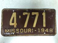 1948 MISSOURI License Plate 4-771