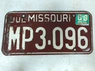 DMV Clear July 1963 MISSOURI Passenger License Plate YOM Clear MP3-096 MO MP3 Music