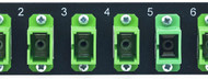 MAP Series Adapter Plates - 6 SC Singlemode Simplex Blue (Green is shown)